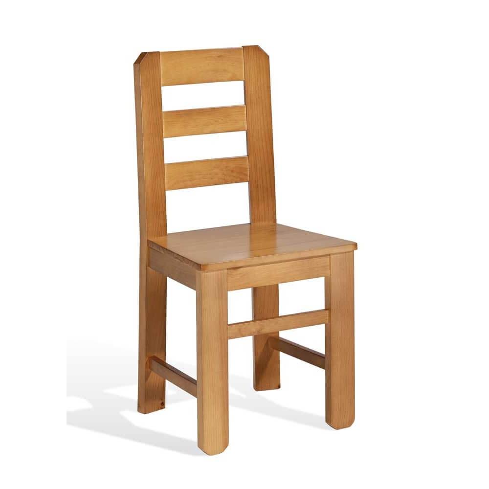 Tlmf silla madera pino macizo modelo floquet for Silla escalera de madera plegable