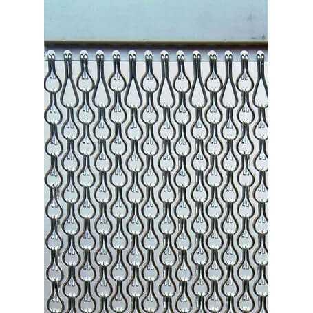 Cortina aluminio exterior antimoscas SB Doble a medida