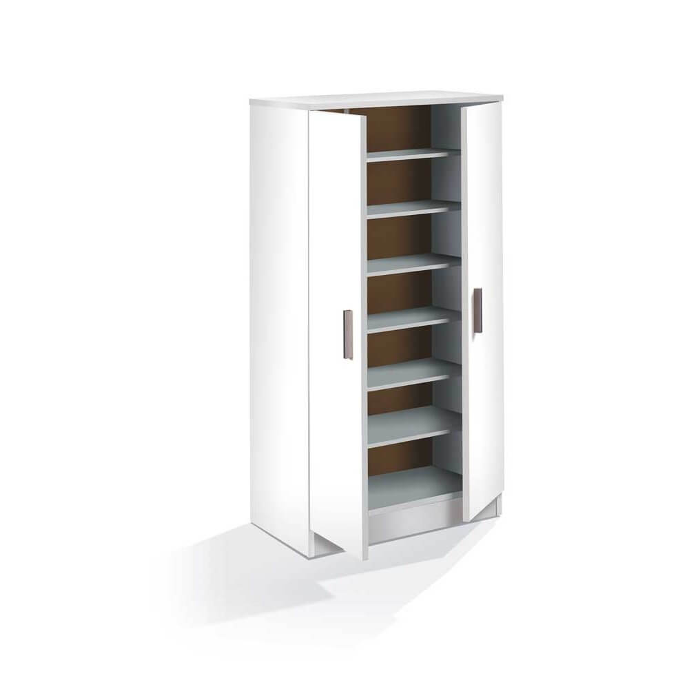 Fzmb zapatero mueble kit 2 puertas modelo blanco for Modelos de zapateros