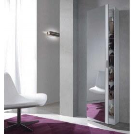 Mueble zapatero kit 1 puerta + espejo modelo Coral I