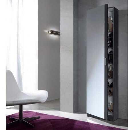 Mueble zapatero kit 1 puerta + espejo modelo Coral II