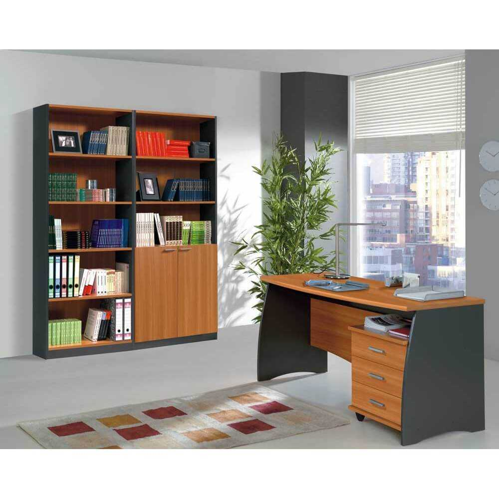 Fmmb mesa escritorio extensible modelo brown for Mesa escritorio con cajones