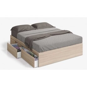 Cama 150 con 4 cajones modelo Bed Nature