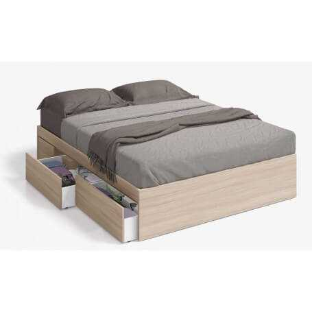 Cama 150 con 4 cajones modelo Bed Nature