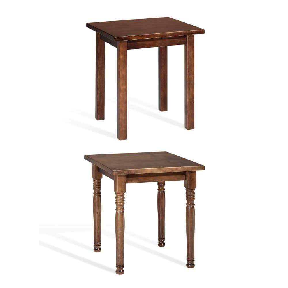 Mesa madera pino modelo llana for Mesa 70x70 madera