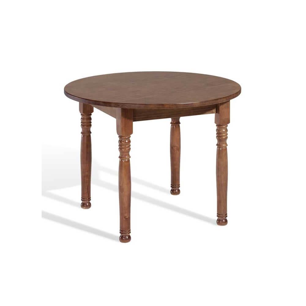 Venta mesa madera pino modelo llana redonda - Mesas de madera redondas extensibles ...