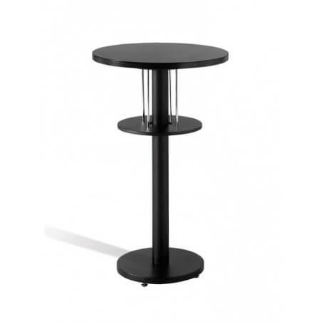 Mesa redonda alta madera haya modelo Disco