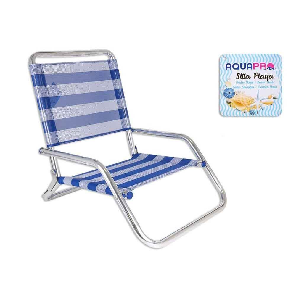 Shsp silla baja playa aluminio for Sillas bajas