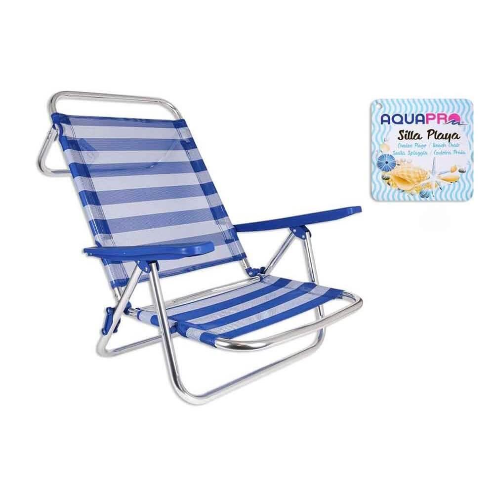 Shst silla tumbona playa aluminio for Tumbona playa decathlon