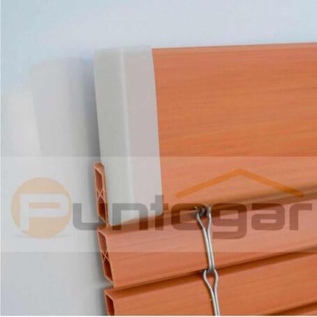 Cubre extremos cantonera plástico para persianas alicantinas plástico 2 pvc puntogar