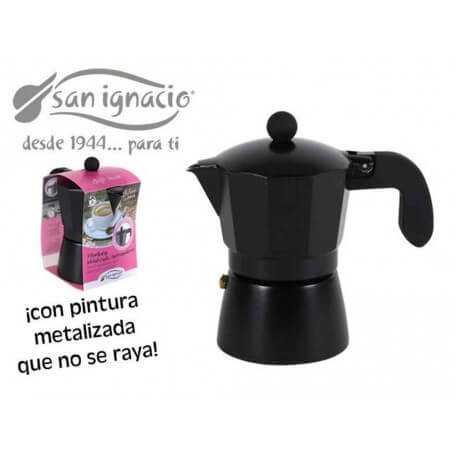 Cafeteras metalizadas negras san ignacio
