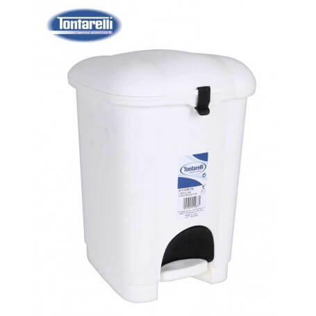 Cubo de basura con pedal crema 2 tamaños