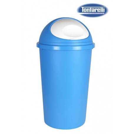 Cubo de basura con tapa 2 tamaños azul