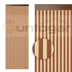 Cortina pvc cintas estriadas bicolor económica puntogar