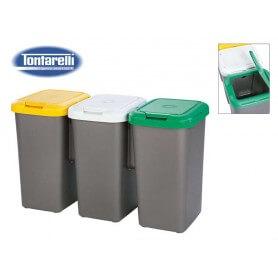 Set de 3 papeleras para reciclaje