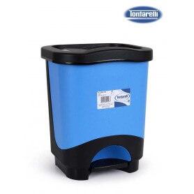 Cubo de basura a pedal azul negro varias medidas
