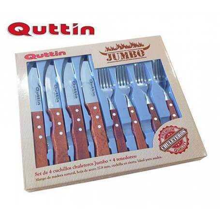 Pack jumbo 4 cuchillos + 4 tenedores