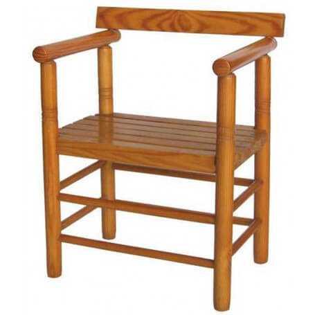 Sillón codal 160 asiento de madera
