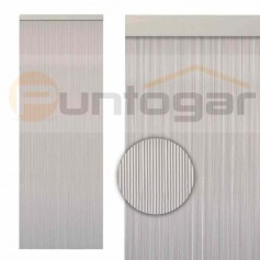 Cortina pvc 0,90 x 2,10 m cintas estriadas translúcidas económica