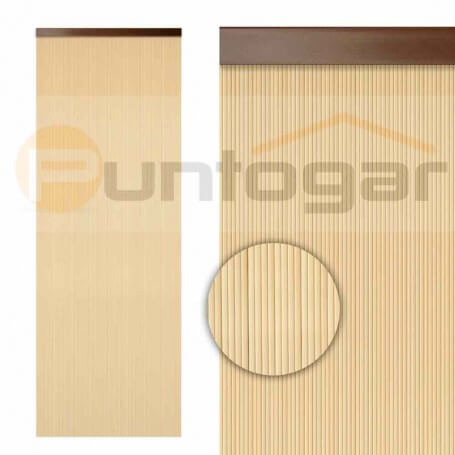 Cortina pvc 0,90 x 2,10 m cintas estriadas color crema económica
