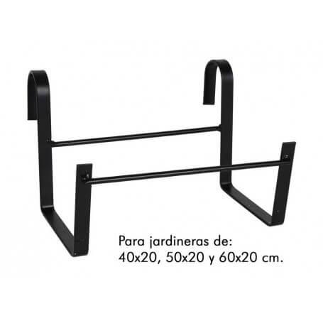 Pack Soportes para jardinera gancho 15x25 cm