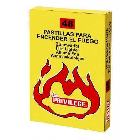 Pack pastillas para fuego barbacoa