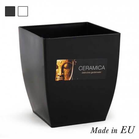 Pack cubre macetas cuadrada 15x15x17 cm cerámica