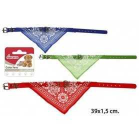 Pack collares para perros con pañuelo 39,5x1,5 cm