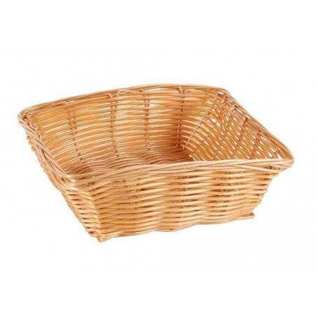 Pack cestas cuadradas mimbre varios tamaños