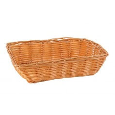 Pack cestas rectangulares mimbre varios tamaños