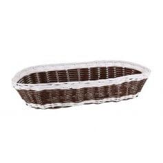 Pack cestas ovales mimbre 36x15x7 cm