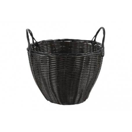 Pack cestas redondas con asas mimbre 28x20 cm