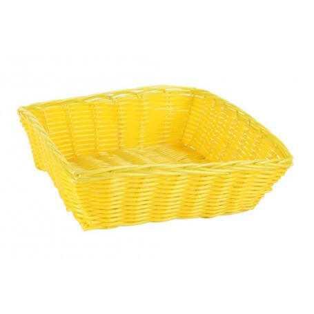 Pack cestas cuadradas mimbre 24x24x7 cm