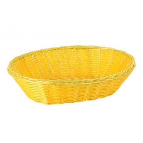 Pack cestas ovales mimbre 28x20x7 cm