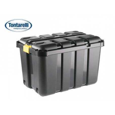 Caja almacenaje con tapa y ruedas 130L One