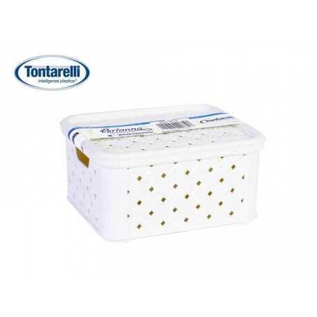 Caja almacenaje con tapa Arianna blanco varios tamaños
