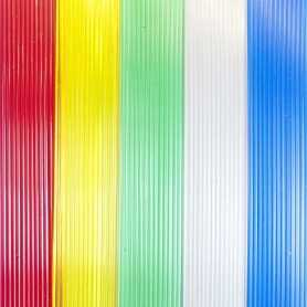 CECT - Cortina exterior Cintas Estriadas detalle Colores Transparentes Puntogar A medida