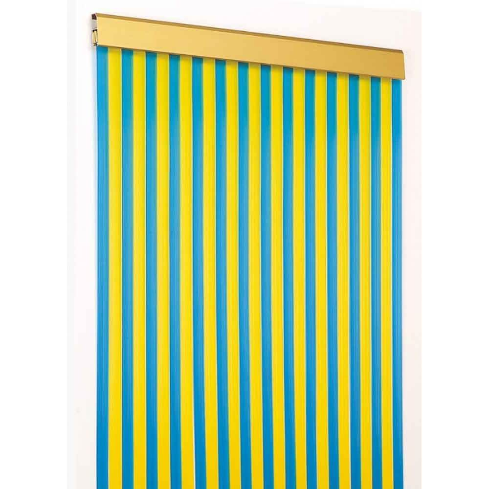 Cect cortina exterior antimoscas cintas estriadas for Cortinas translucidas
