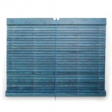 "Persiana alicantina madera barnizada azul ""a medida"" Puntogar"