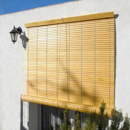 """Persiana alicantina madera natural barnizada """"a medida"""" puntogar"""