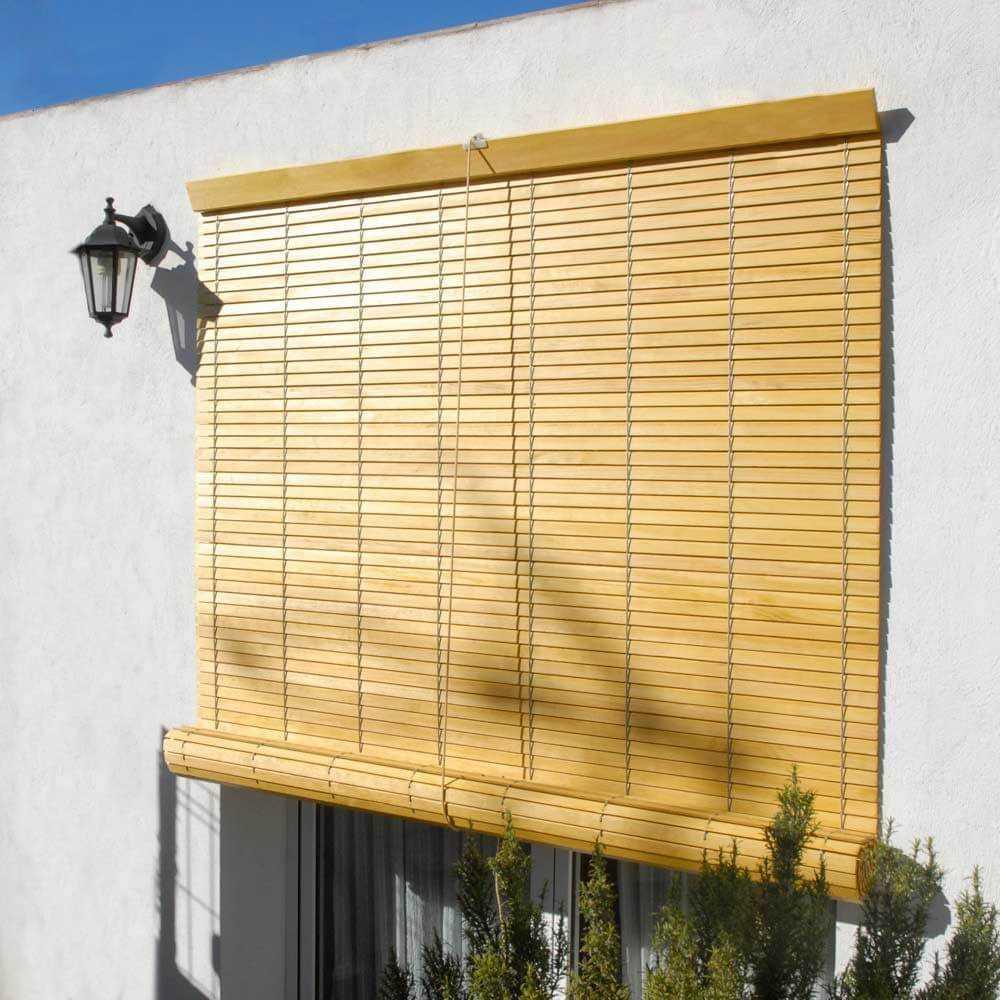 Persiana alicantina de madera para exterior enrollable for Persianas de color de moda