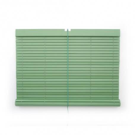 "Persiana alicantina madera pintada verde ""a medida"" Puntogar"