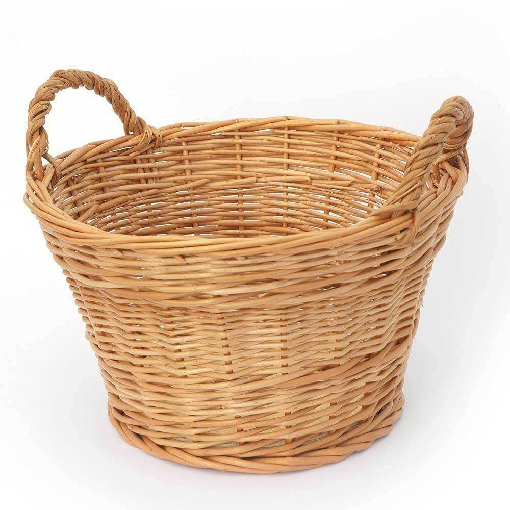 Comprar cesta mimbre redonda con dos asas modelo cu vano - Reciclar cestas de mimbre ...