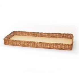 Bandeja de mimbre rectangular buff Modelo Larga