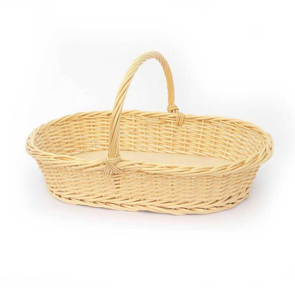 Jmcm cesta mimbre ovalada con un asa modelo rosquillera - Cestos de minbre ...