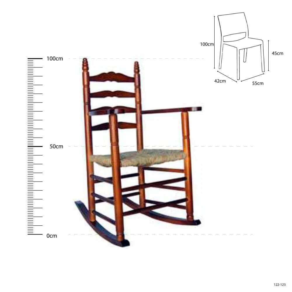 Scca sill n colonial balanc n madera asiento anea enea - Sillon balancin madera ...