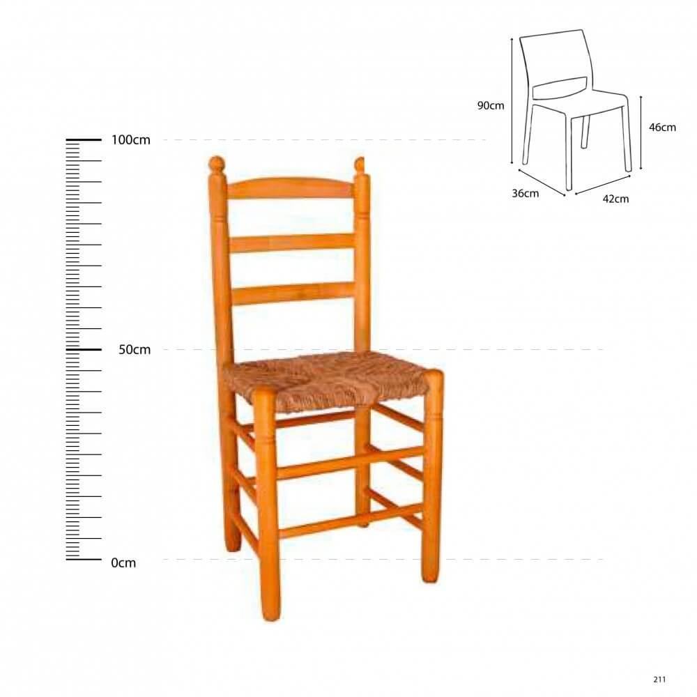 Scbr silla comedor bola reforzada madera chopo anea enea for Sillas de madera para comedor 2016