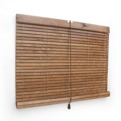 Persiana-de-madera-de-pino-do-doria-nogal-claro-barnizado-vista-tres-cuartos
