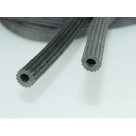 perfil estriado especial para fijar tela de mosquiteras de 6-5 y 7 mm