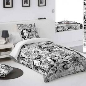 Dormitorio juvenil personalizado Comic Conjunto textil-hogar